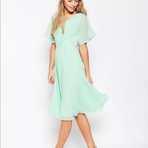 ASOS mint green midi dress